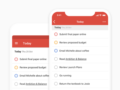 Todoist Checkboxes task checkboxes ui todo productivity mobile ios android