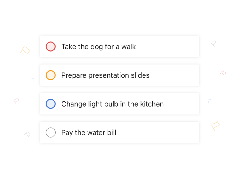 Todoist Priority Colours by Panagiotis Tsamoudakis for Doist on Dribbble