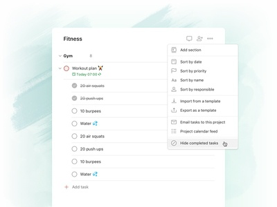 Todoist Foundations - Completed tasks