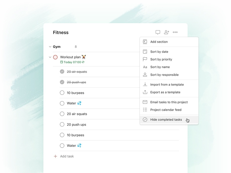 Todoist Foundations - Completed tasks web project real live app icon todoist task management todo productivity