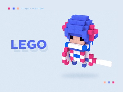 Lego Dragon Warriors warriors illustration 3d