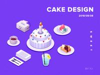 2.5d cake illustrator