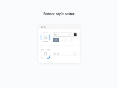 Border style setter