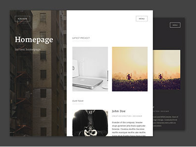 Icelock WordPress theme wordpress theme icelock portfolio creative themeforest blog design