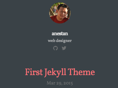 Experiment with Jekyll github blog design responsive jekyll