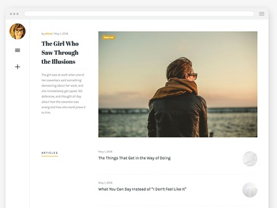 Olivia WordPress Theme - Homepage typography black white simple clean layout blog themeforest minimalist wordpress