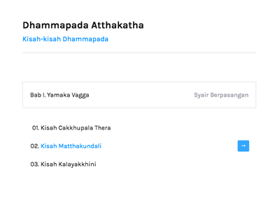 Dhammapada Atthakatha - Article List indonesia buddha buddhist white ux ui jekyl dhamma design beautiful article
