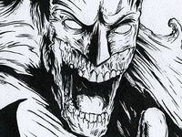 Zombie Batman Original Illustration