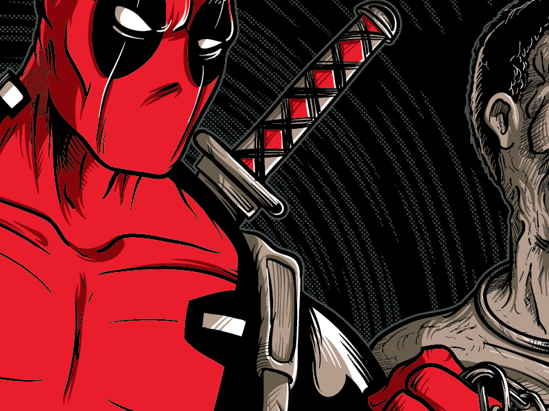 WIP Illustration - The Walking Deadpool salt lake comic con matthew johnson illustration comic book villain zombie walking dead marvel deadpool