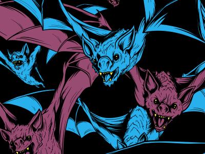 Bats! Preview vampire haunted spooky matthew johnson illustration horror halloween bats