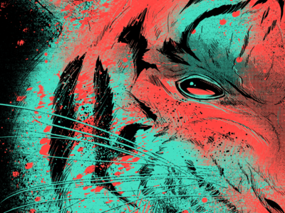 Tiger WIP for Seventh.Ink