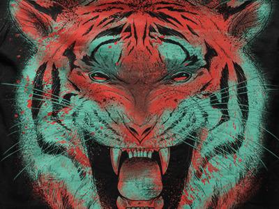Eighth Anniversary Tiger Shirt apparel tshirt shirt print fierce roar matthew johnson seventhink tiger