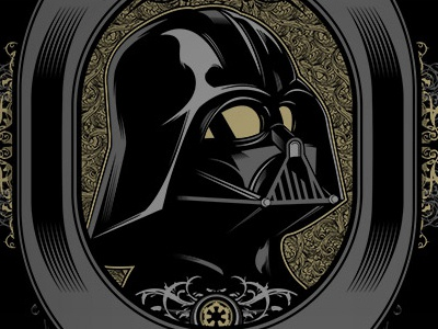 Imperial Stout Metallic Screen Print seventhink matthew johnson french paper limited metallic screen print print parody star wars pop culture beer imperial stout