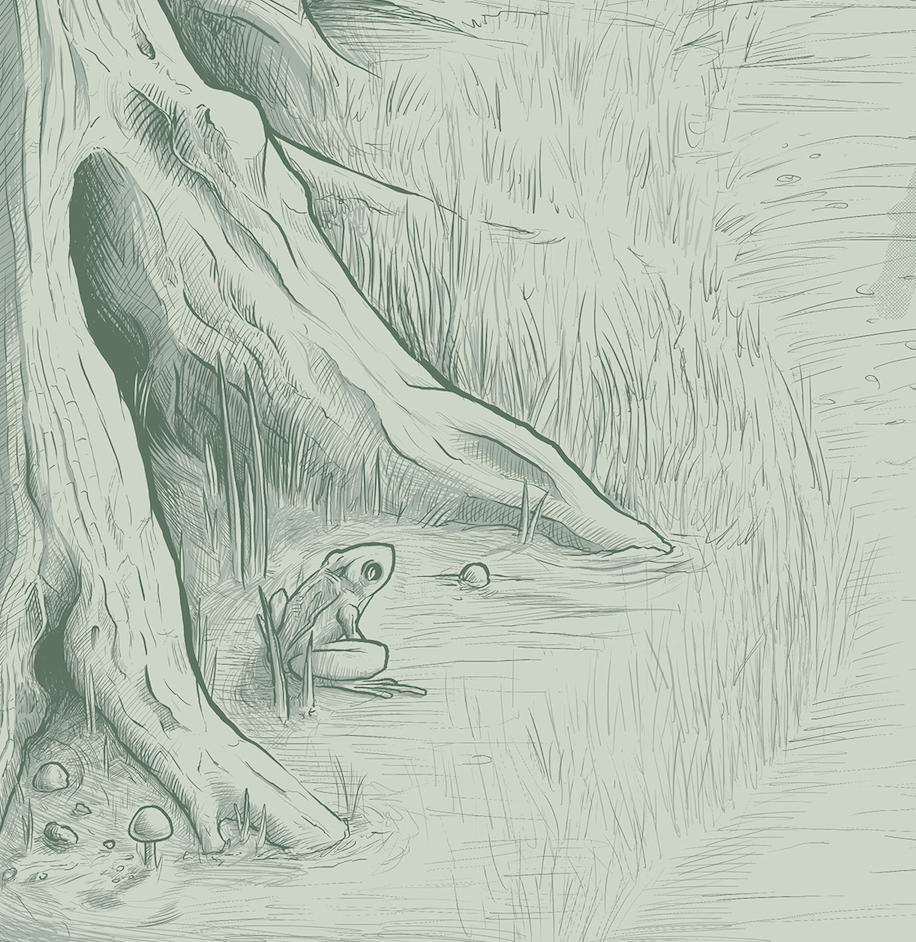 Zelda detail frog