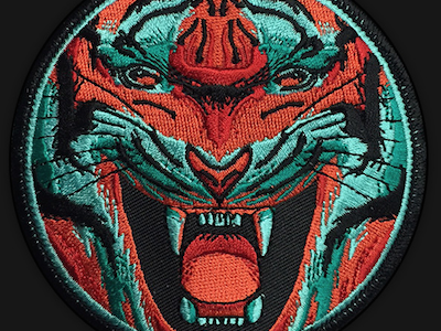 Tiger Embroidered Patch embroidery animal art matthew johnson seventhink illustration tiger patchlife patchgame patch