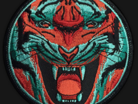 Tiger Embroidered Patch