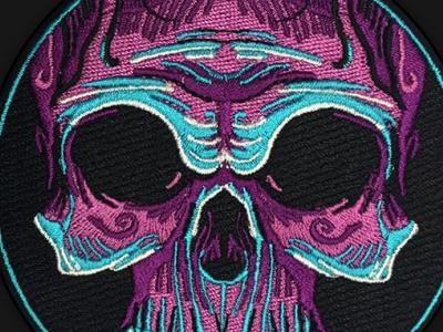 Voodoo Skull Patch matthew johnson seventhink embroidery patch life patch game patch skull voodoo