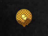 Dripping Waffle Enamel Pin