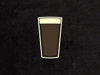 Stout Pint Enamel Pin
