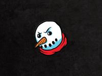 "Angry Snowman 1"" Enamel Pin"