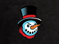 """Dapper Angry Snowman 1.7"""" Enamel Pin"""
