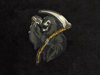 Drinkin Reaper Enamel Pin