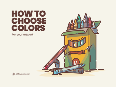 How to Choose Colors crayons colour and lines color palette colors color logo vector icon linework illustration
