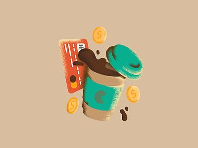 Style Variation cafeteria café cafe retro gouache ui flatdesign flat icons color coffee icon vector illustration