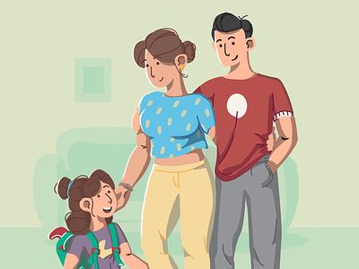 Family Illustration homepage home family portrait family branding design flat illustration flatdesign design branding vector illustration