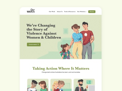 Website redesign Our WATCh ux ui business character character design flat illustraion website ngo webdesign design branding vector illustration