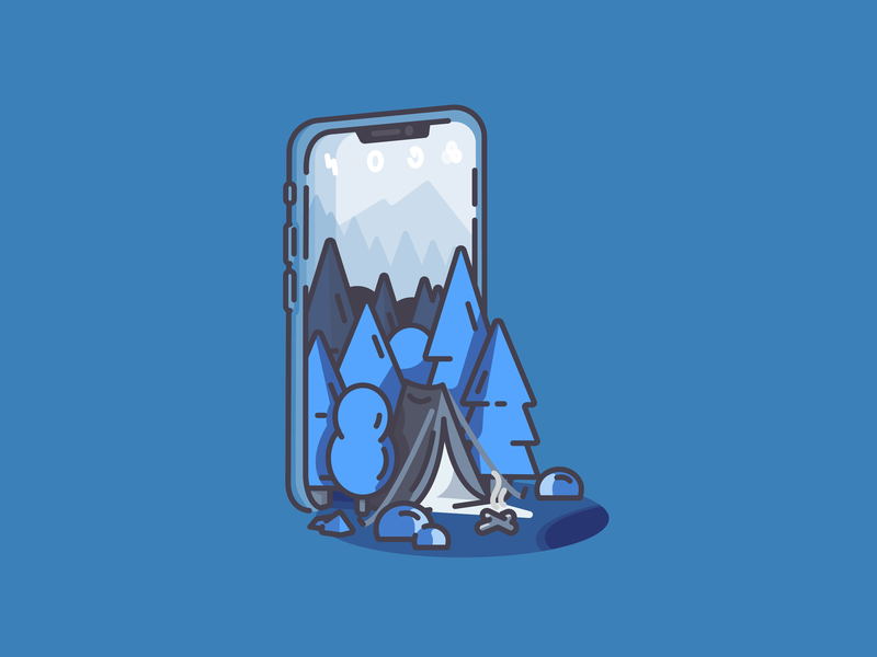 Night Mode woods trees tent pine tree phone moutains iphone forest camping app nightmode camera cell phone