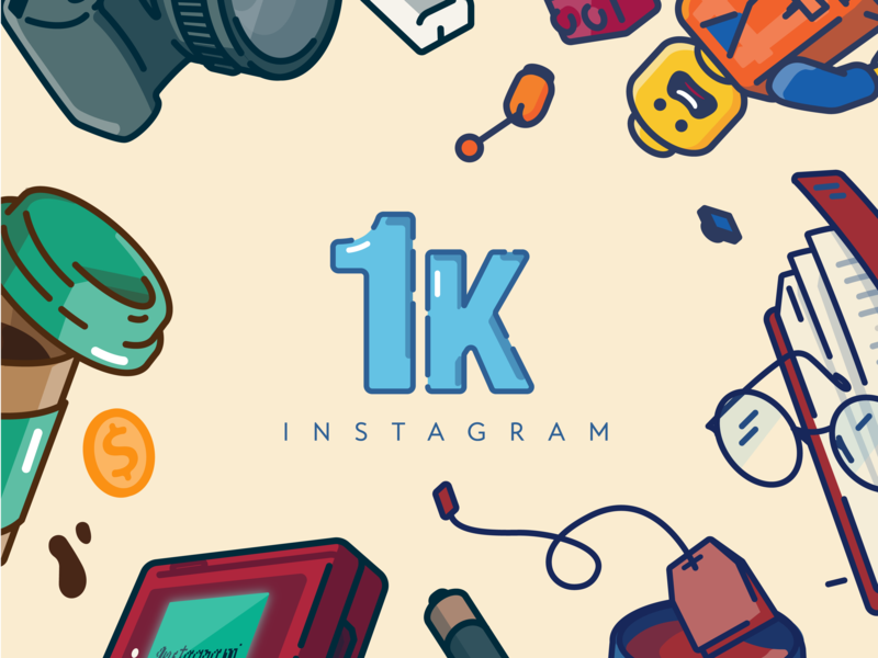 1,000 followers on Instagram instagram post instagram logo vector roadtrip nightmode coffee app cell phone camera icon trees woods pine tree linework forest camping illustration
