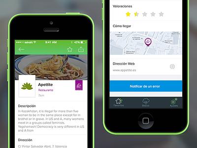 Shop detail screen shop app ui ios green blue guide