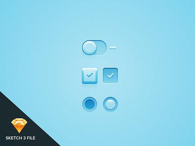 Light And Switch 2 (SKETCH 3 VERSION) ui sketch blue azul interface design