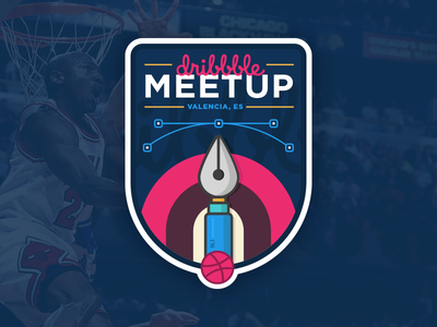 Dribbble Valencia Meetup badge españa spain valencia meetup dribbble
