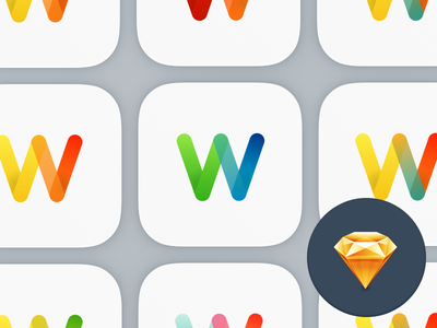 W App Icon freebie download sketch app icon