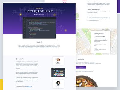 Valencia Coderetreat map live editor paella landing page landing code coderetreat valencia