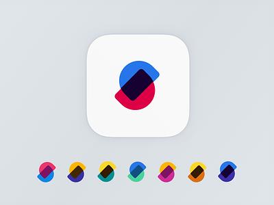 S App Icon icon color shape s