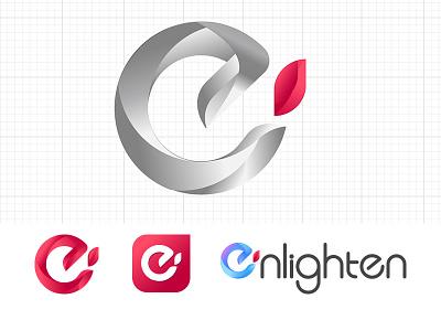 Logo Enlighten illustration design logo vi