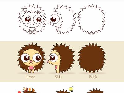 Hedgehog ip cartoon character