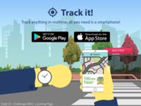 Tracking App Landing Page Design - DailyUI Challenge #003