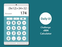 Daily UI Challenge - #004 - Calculator