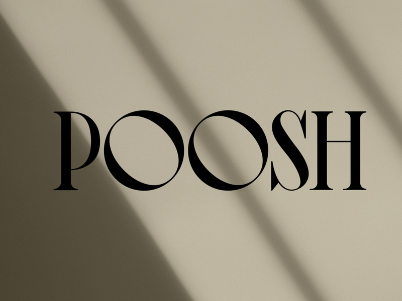 Poosh Logo Designed by Nice People Los Angeles Agency logotype custom wordmark logo