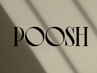 Poosh Logo Designed by Nice People Los Angeles Agency logotype custom wordmark logo