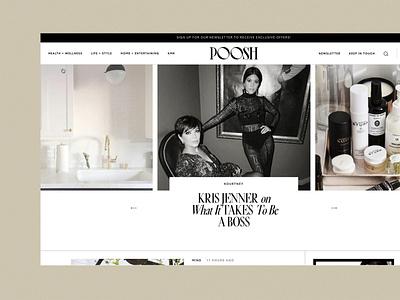 Poosh Website designed by Nice People carousel responsive news site article rewardstyle affiliate links blog wordpress