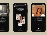 Poosh Instagram Stories Templates designed by Nice People swipe up mobile instagram template