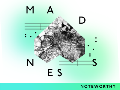 Noteworthy Single itunes single noteworthy madness heart music notes gradient typography
