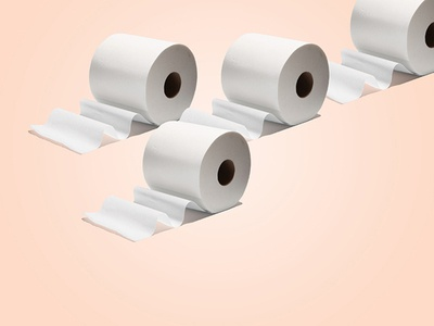 TP objects play photography toilet paper layout blush graphic pattern