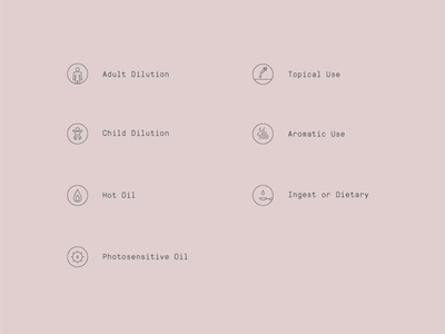 Essential Oil Icons information graphics typography illustration oil icons