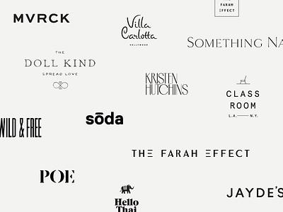 Logos of 2016 2016 roundup year in review branding logos